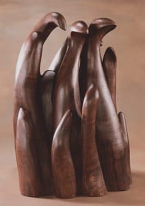 """All in a family,"" black walnut, courtesy of Adam Gaeddert '07 and Rebecca Woodruff."