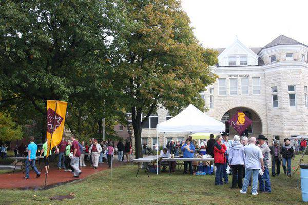 Despite light rain for Fall Festival 2012, the Green was a busy place on the Saturday 'Fair Day'