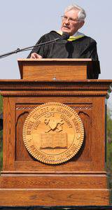 Dale Schrag's address at the 2014 commencement ceremony was titled 'Always be a Thresher.'  Photo by Vada Snider.