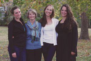 From left, Miranda Wollenberg, Cathy Weaver, Emily Weaver and Madelyn Weaver.  Photo by Vada Snider.
