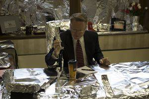 President Perry White trying to find the silver lining in this student prank of his office.