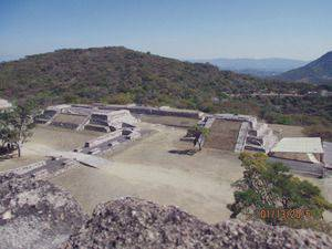 The rebuilt pre-Columbian city of Xochicalco, state of Morelos, Mexico.