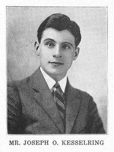 Joseph Kesselring in Bethel College's 1922 yearbook, Graymaroon. photo credit: Mennonite Library and Archives
