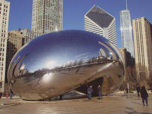 """Cloud Gate,"" aka The Bean, in Millennium Park"