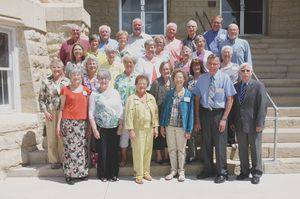 "The ""Golden Thresher"" Class of 1964 at last year's Alumni Weekend"